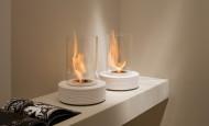 Bio chimenea – mármol frío calentado por una llama