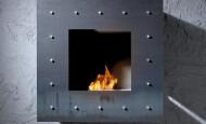 La chimenea-bio Coblonal – llama como un cuadro enmarcado
