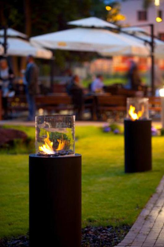 ethanol fireplace biokominek garden Planika Fires La biochimenea como una inspiración para los diseñadores de los jardines.